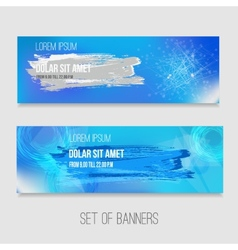 set of abstract technology banners with vector image vector image