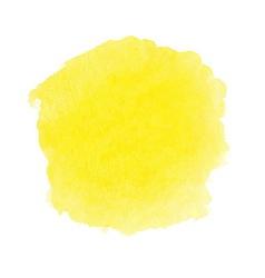 Yellow watercolor spot vector image vector image