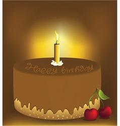 Big chocolate cake vector image