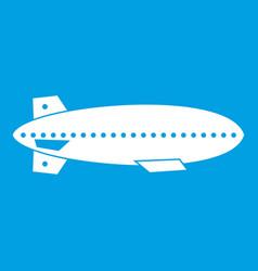 Dirigible balloon icon white vector