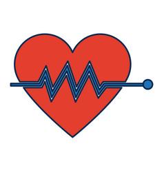 heart beat pulse for medical rhythm cardiac vector image