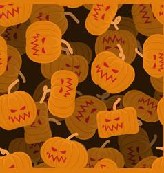pumpkin seamless pattern 3d halloween background vector image vector image