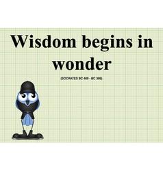Wisdom begins in wonder vector
