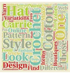 Hot Tips on Different Kinds of Carrie Crochet text vector image vector image