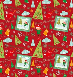 merry christmas pattern boys vector image vector image