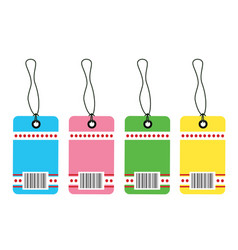 gift tag bar code vector image