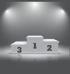 Illuminated realistic sport winners 3d podium vector image vector image
