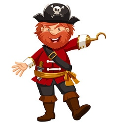Pirate with hand of hook vector