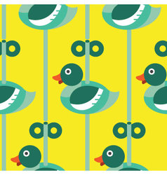Seamless Duck with wind up pattern icon vector image vector image
