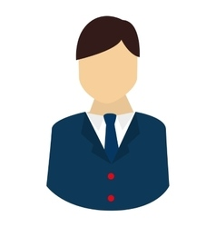 silhouette man isolated vector image