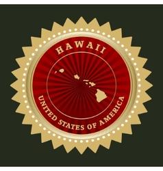 Star label hawaii vector