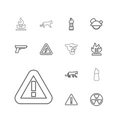 13 dangerous icons vector