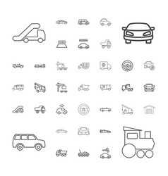 37 automobile icons vector
