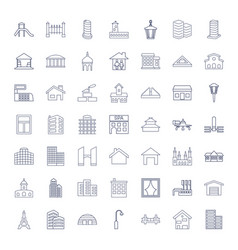49 architecture icons vector