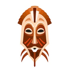 African tribal mask vector image