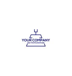 American football field logo design vector