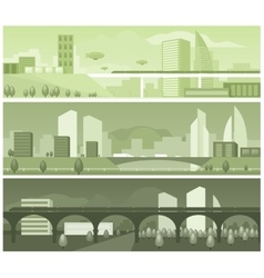 Banners modern landscapes vector image
