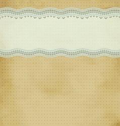 baroque card vector image