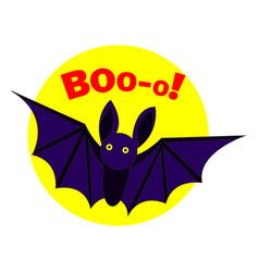 bat boo logo cartoon style vector image