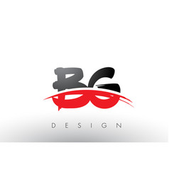 Bg b g brush logo letters with red and black vector