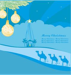 Birth jesus in bethlehem - abstract card vector