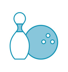 Blue pin and ball cartoon vector