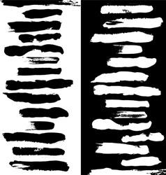 brushes black a white vector image