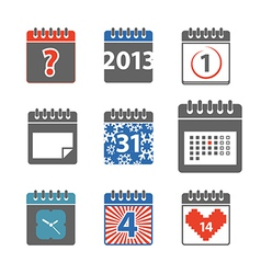 Calendar web icons collection vector image