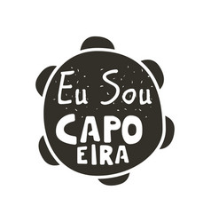 Capoeira music poster vector