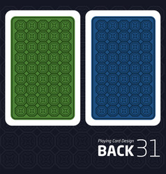 Card back abstract pattern background underside vector