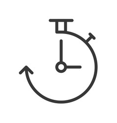 clock and arrow icon pixel perfect outline design vector image