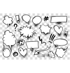 comic book text speech bubble vector image