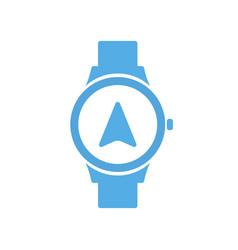 Concept navigation smart technology smartwatch vector