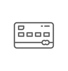 credit card line icon isolated on white vector image