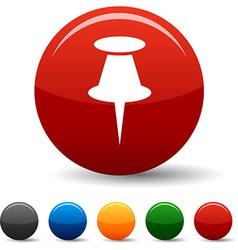 Drawing-pin icons vector