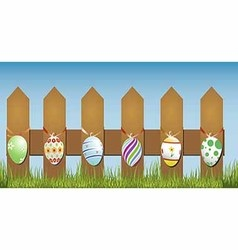 Easter fence vector