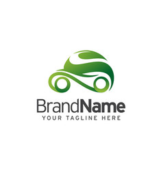 Eco car logo template design vector