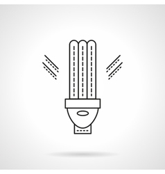 Energy saving devices flat line icon vector image