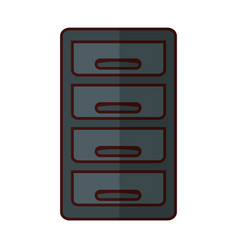 File cabinet icon vector