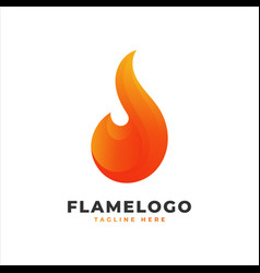 flame logo with orange gradient vector image