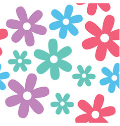 Flower and daisy seamless background vector