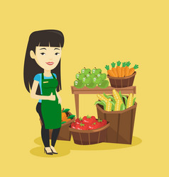 friendly supermarket worker vector image