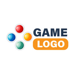 game logo modern controller directional pad vector image