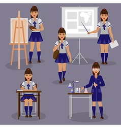 Girl school vector