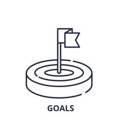 goals line icon concept goals linear vector image