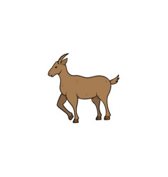 goat hand drawn design template isolated vector image