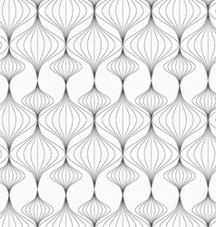 Gray striped vertical Chinese lanterns vector image