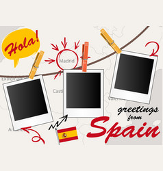 greeting card with spain vector image
