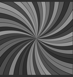 grey abstract hypnotic striped spiral vortex vector image