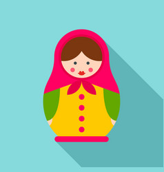 handmade nesting doll icon flat style vector image